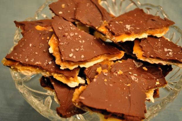 Chocolate-Caramel Matzoh Crunch Andrea Reiser