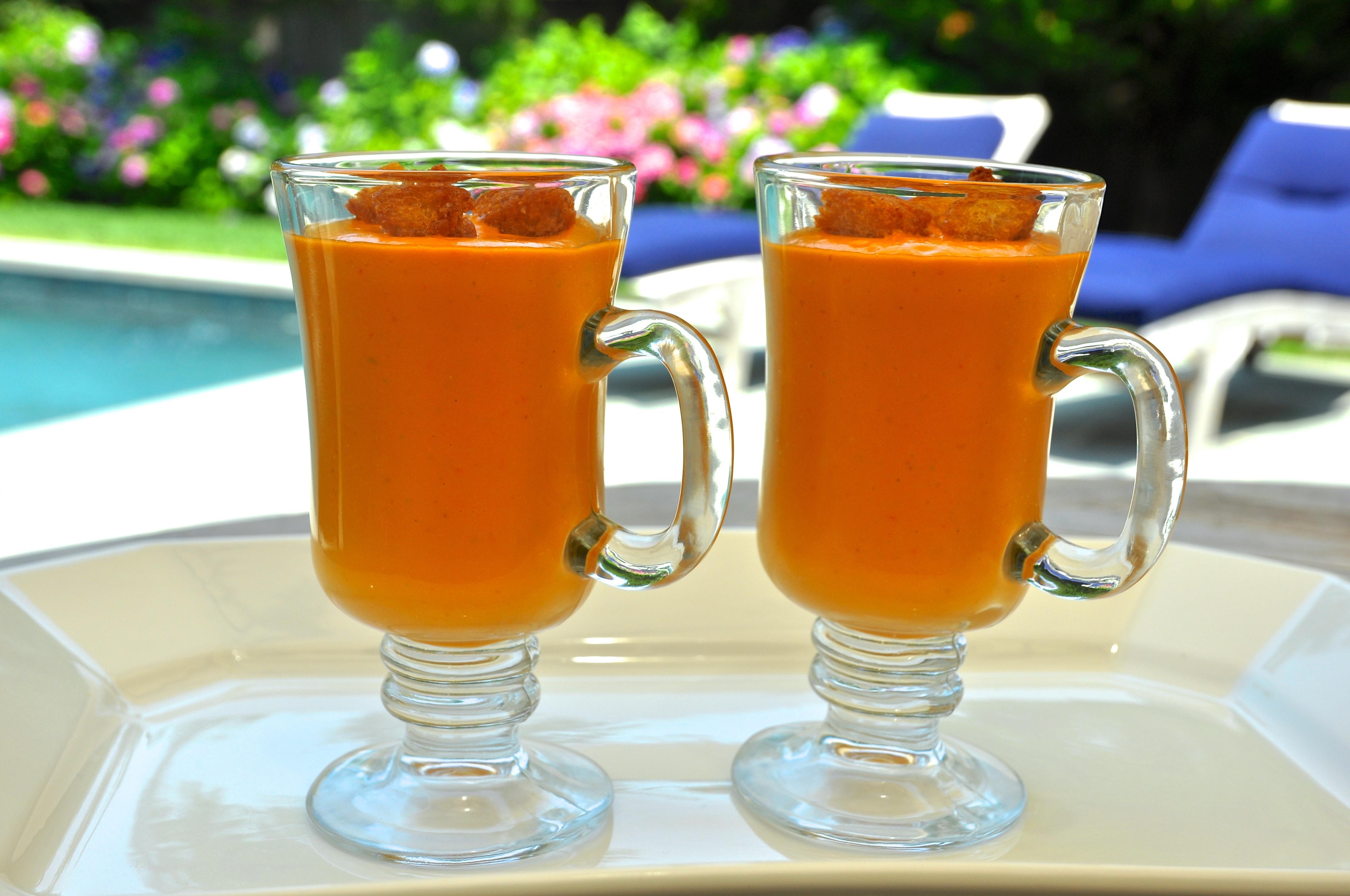 Creamy Gazpacho Andrea Reiser