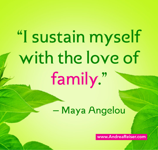 Maya Angelou Quotes About Family