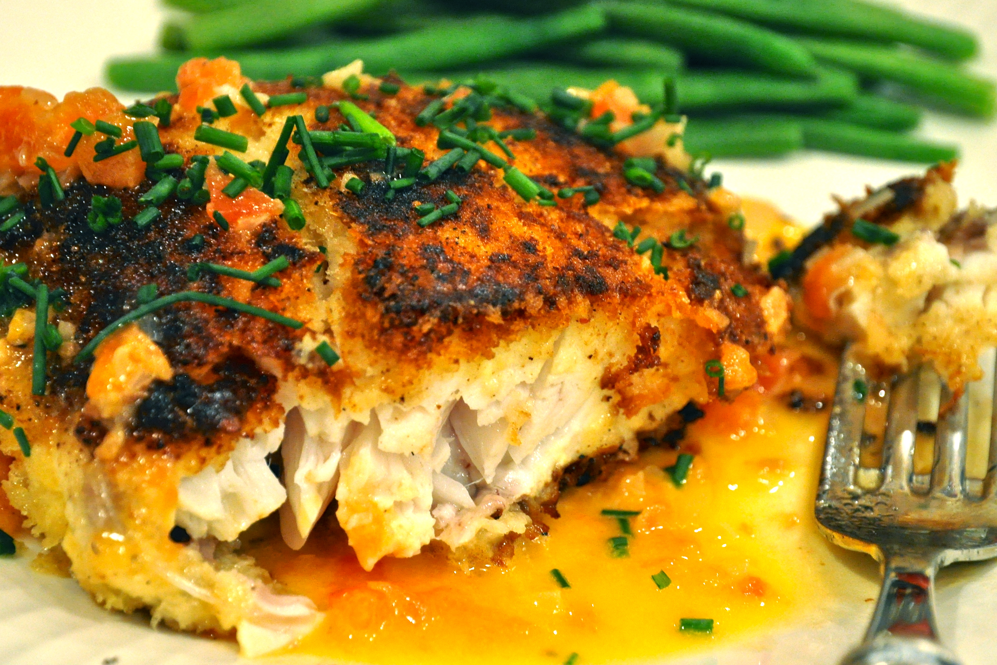 Fried bass for Triple tail fish recipes