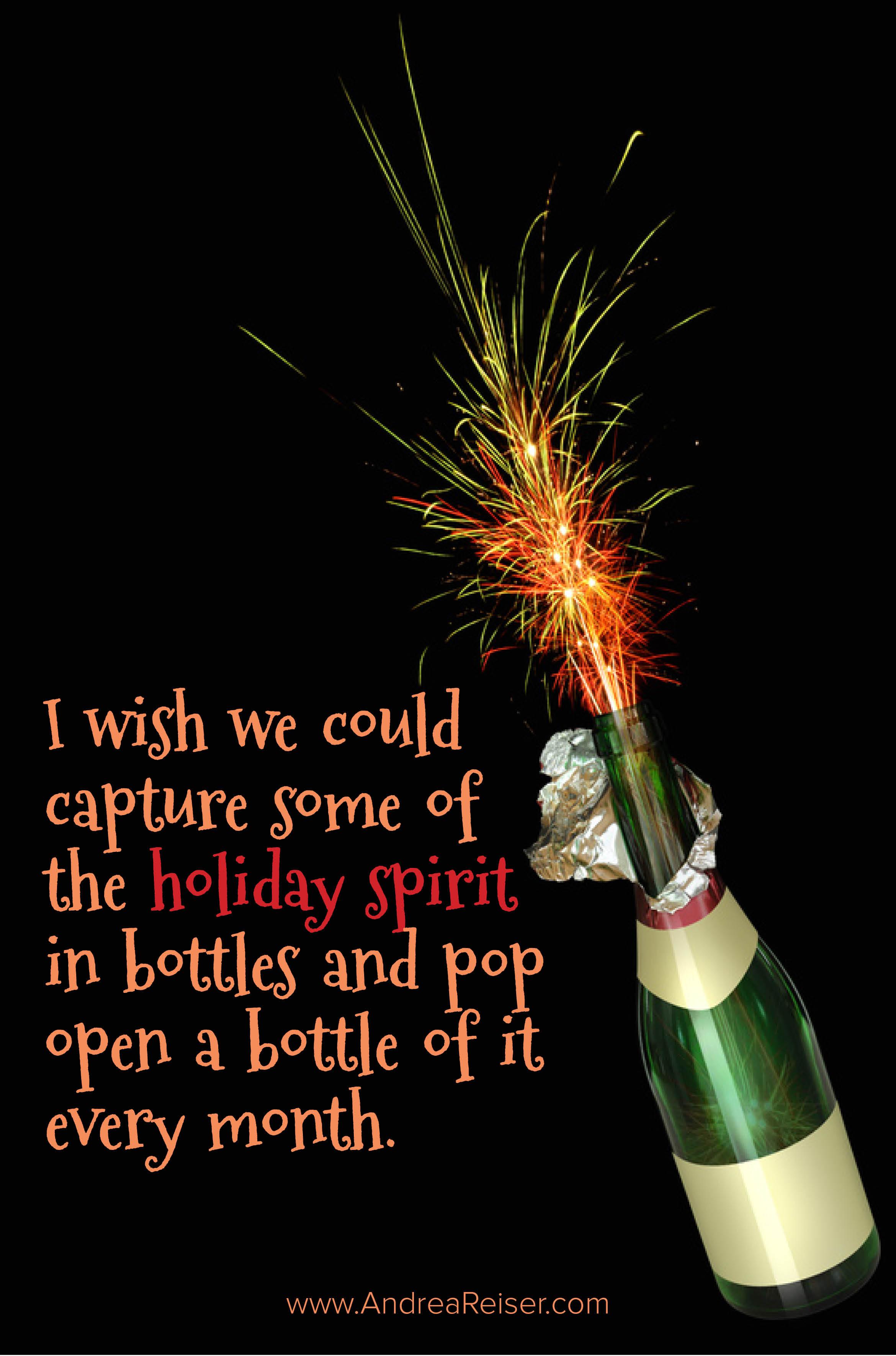 Holiday Spirit Images Bottle Holiday Spirit
