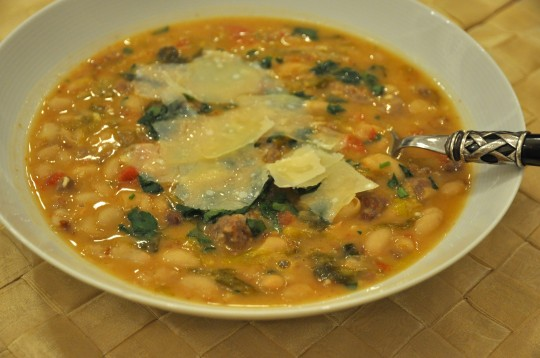 Spicy Sausage, Escarole & White Bean Stew Recipes — Dishmaps