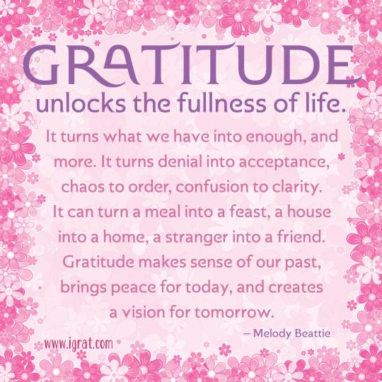 Gratitude - Melody Beattie