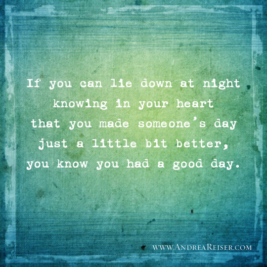 If You Can Lie Down at Night…You know you've had a good day