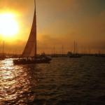 Newport Sunset Sailboat