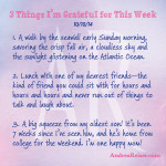 3 Things I'm Grateful For - 10-10-14