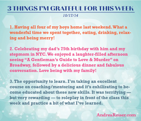3 Things I'm Grateful For - 10-17-14