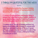 3 Things I'm Grateful For - 10-24-14