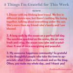 3 Things I'm Grateful For - 10-31-14