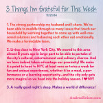 3 Things I'm Grateful For - 11-21-14