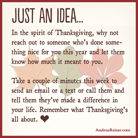 Just an idea for Tgiving