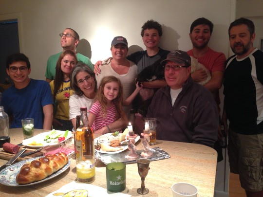 My siblings and I were all together in the house we love so much on a rainy Friday night to celebrate the Fourth of July as well as Shabbat