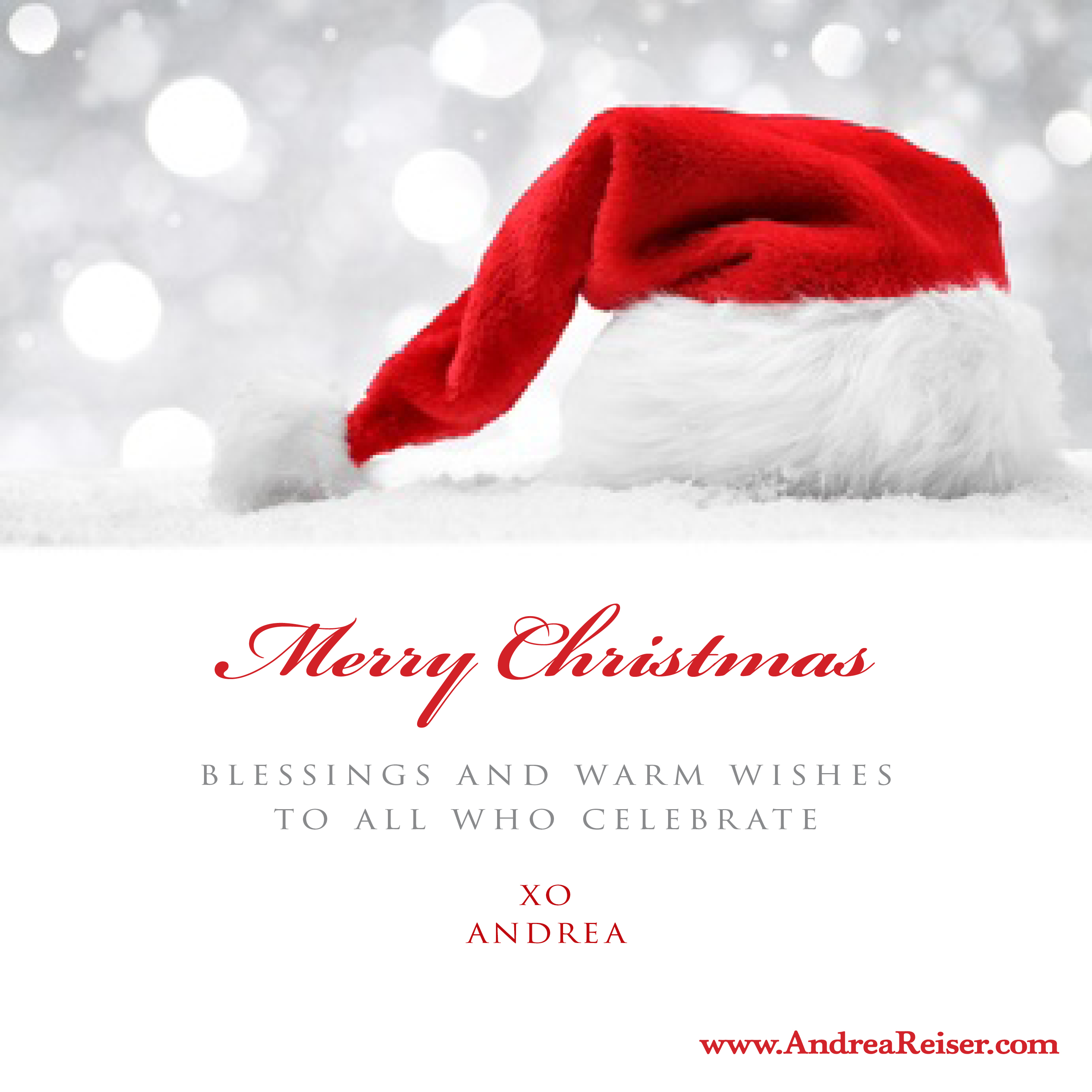 Merry Christmas: Blessings And Warm Wishes To All Who Celebrate   Andrea  Reis.