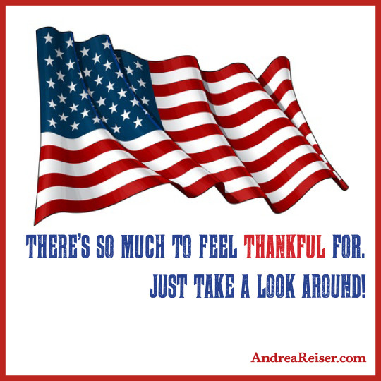 There's so much to be thankful for. Just take a look around [MEMORIAL DAY FLAG]